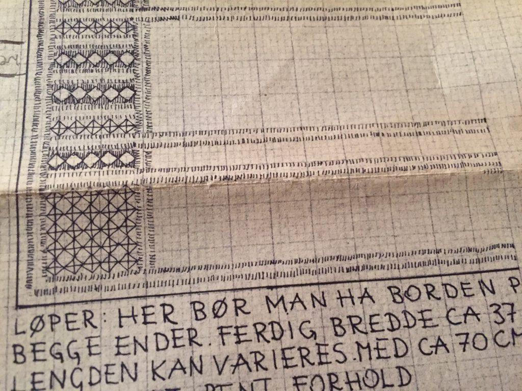 Ausschnitt aus einer norwegischen Hardanger-Stickanleitung