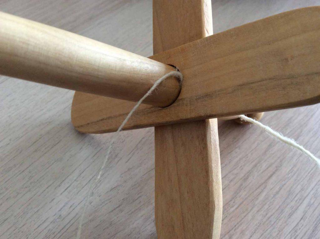 kreuzspindel wickeln - 2. Kreuzstäbe ausrichten