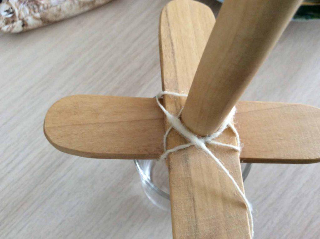 kreuzspindel wickeln - 4. Faden Wickeln